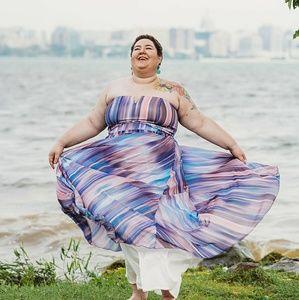 City Chic Strapless Formal Dress